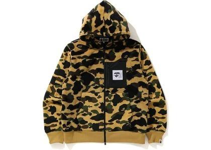 Bape 1St Camo Full Zip Hoodie Jacket Yellow (FW20)の写真