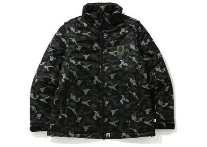 Bape Digital Camo Detachable Padded Jacket Black (FW20)の写真