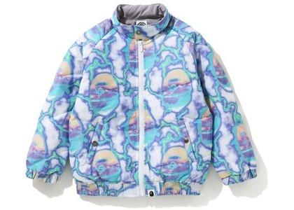 Bape Lightening Down Jacket Blue (FW20)の写真