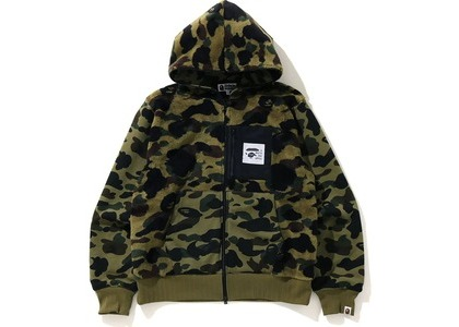 Bape 1St Camo Full Zip Hoodie Jacket Green (FW20)の写真