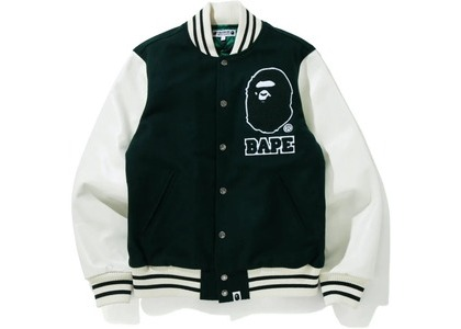 Bape x Undefeated Varisty Jacket Green/White (FW20)の写真