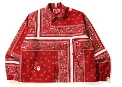 Bape Bandana Print Relaxed Coach Jacket Red (FW20)の写真