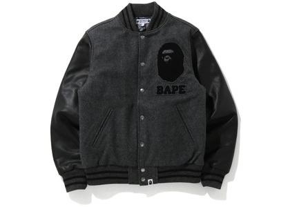 Bape x Undefeated Varisty Jacket Black/Gray (FW20)の写真