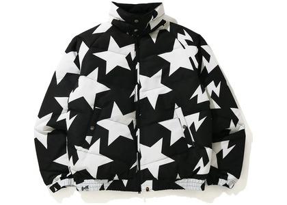 Bape STA Pattern Down Jacket Black (FW20)の写真
