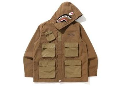 Bape Shark Multi Pocket Wide Jacket Beige (FW20)の写真