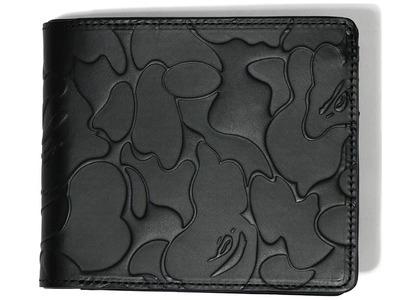 Bape Solid Camo Leather Wallet Black (FW20)の写真