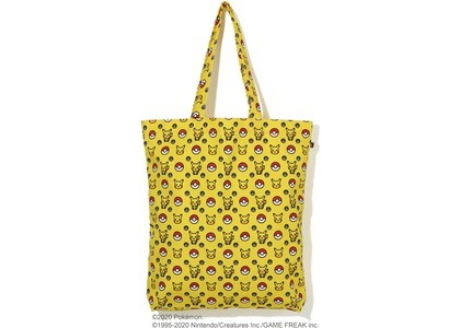 Bape x Pokemon Tote Bag Yellow (FW20)の写真