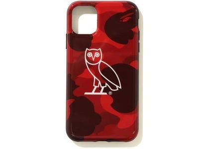 Bape x OVO Color Camo Iphone 11 Pro case Red (FW20)の写真