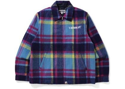Bape Check Zip Blouson Jacket Blue (FW20)の写真