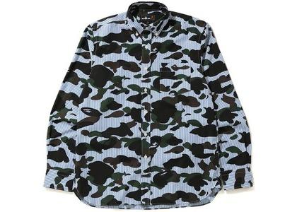 Bape 1st Camo Stripe BD Shirt Blue (FW20)の写真