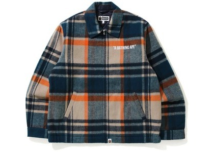 Bape Check Zip Blouson Jacket Beige (FW20)の写真