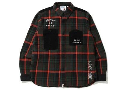Bape Check Flannel Shirt (FW20) Black (FW20)の写真