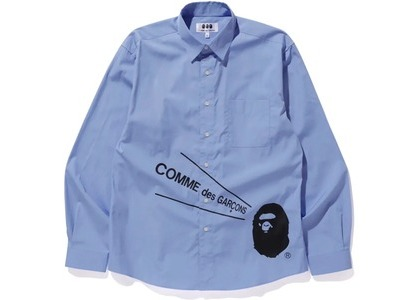 Bape x CDG Osaka Shirt #2 Blue (FW20)の写真