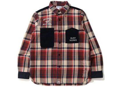 Bape Check Flannel Shirt (FW20) Red (FW20)の写真