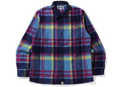 Bape Check Shirt Blue (FW20)の写真