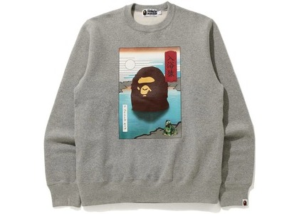 Bape Japan A Bathing Ape Crewneck Gray (FW20)の写真