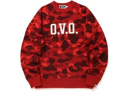 Bape x OVO Color Camo Crewneck Red (FW20)の写真