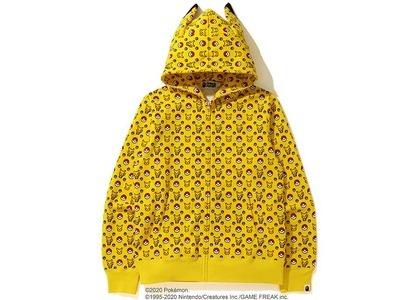 Bape x Pokemon Full Zip Hoodie Yellow (FW20)の写真