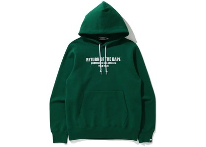 Bape x Undefeated Pullover Hoodie Green (FW20)の写真