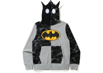 Bape x DC Batman Full Zip Hoodie Gray (FW20)の写真