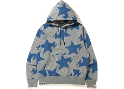 Bape Relaxed STA Pattern Pullover Hoodie Gray (FW20)の写真