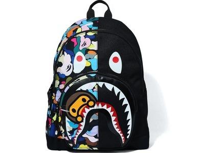BAPE Multi Camo Milo Shark Day Pack Black (FW20)の写真