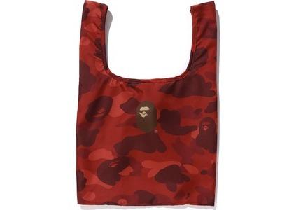BAPE Color Camo Shopping Bag M Red (FW20)の写真
