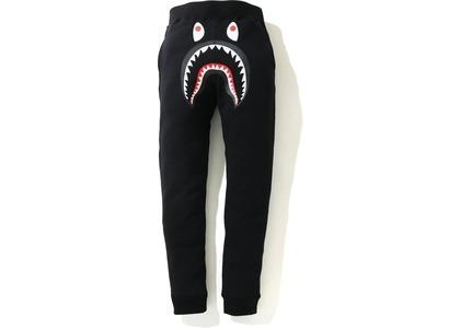 Bape Shark Slim Sweatpants Black (FW20)の写真