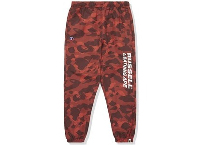 Bape x Russell Color Camo Track Pants Red (FW20)の写真
