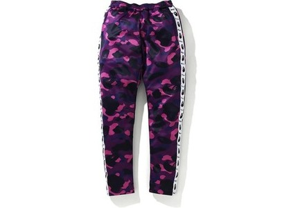 Bape Color Camo Tape Jersey Pants Purple (FW20)の写真