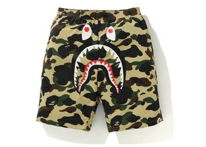 Bape 1st Camo Shark Beach Pants Yellow (FW20)の写真