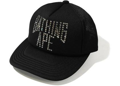 Bape NYC Logo Crystal Stone Mesh Cap Black (FW20)の写真