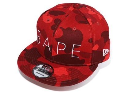 Bape Color Camo New Era Snap Back Cap Red (FW20)の写真
