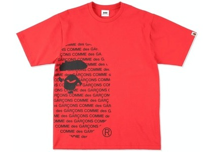 CDG Osaka x Bape Two Tee Red (SS21)の写真
