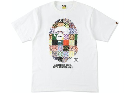 Bape 28th Anniversary Ape Head Tee White (SS21)の写真