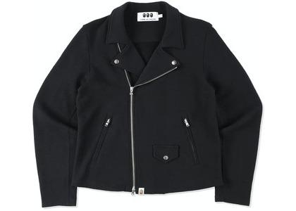 CDG Osaka x Bape Sweat Biker Jacket Black (SS21)の写真