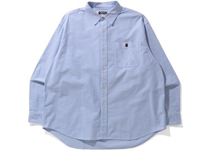 Bape Stripe One Point Loose Fit Shirt Navy (SS21)の写真