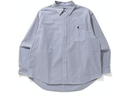 Bape Stripe One Point Loose Fit Shirt Black (SS21)の写真