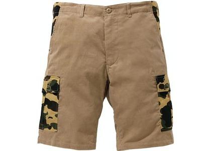 Bape 1st Camo Corduroy Wide 6Pocket Shorts Beige (SS21)の写真