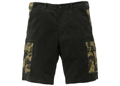 Bape 1st Camo Corduroy Wide 6Pocket Shorts Olivedrab (SS21)の写真