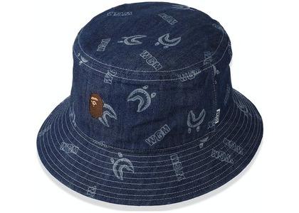 Bape Shark Pattern Denim Bucket Hat Indigo (SS21)の写真
