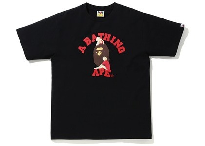 Bape A BATHING APE x Marilyn Monroe College Tee Black (FW20)の写真