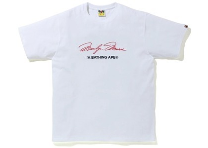 Bape A BATHING APE x Marilyn Monroe Signature Tee White (FW20)の写真
