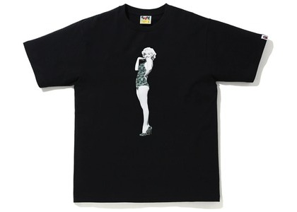 Bape A BATHING APE x Marilyn Monroe Tee Black (FW20)の写真