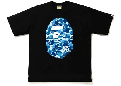 Bape ABC Camo Big Ape Head Relaxed Tee Black/Blue (FW20)の写真