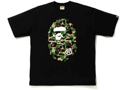 Bape ABC Camo Big Ape Head Relaxed Tee Black/Green (FW20)の写真