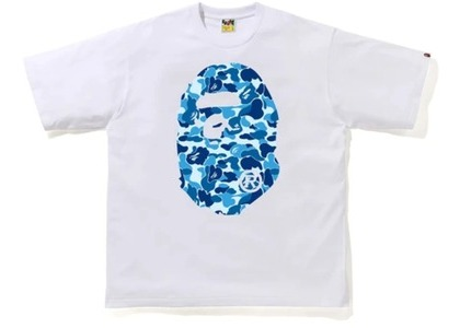 Bape ABC Camo Big Ape Head Relaxed Tee White/Blue (FW20)の写真