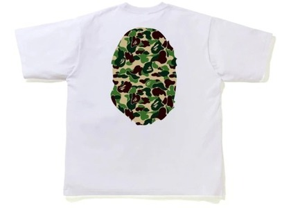 Bape ABC Camo Big Ape Head Relaxed Tee White/Green (FW20)の写真