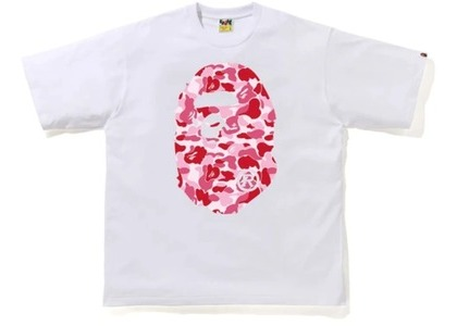 Bape ABC Camo Big Ape Head Relaxed Tee White/Pink (FW20)の写真