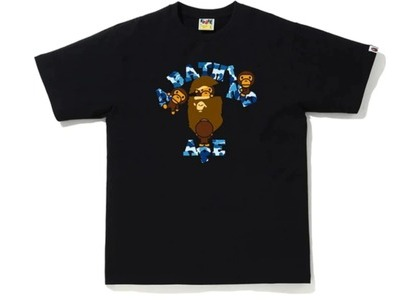 Bape ABC Camo College Milo Tee Black/Blue (FW20)の写真